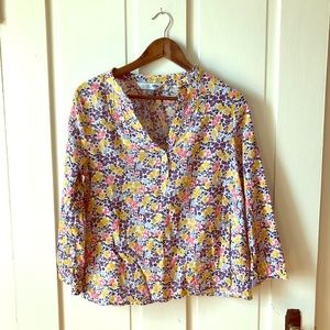 Floral Linen Tunic